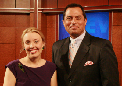 Annabelle Moseley with Ken Rosato of WABC