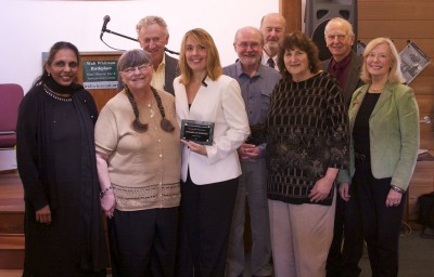 Annabelle Moseley receives the 2014 Long Island Poet of the Year Award
