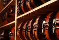 Violin shelf at the Long Island Violin Shop