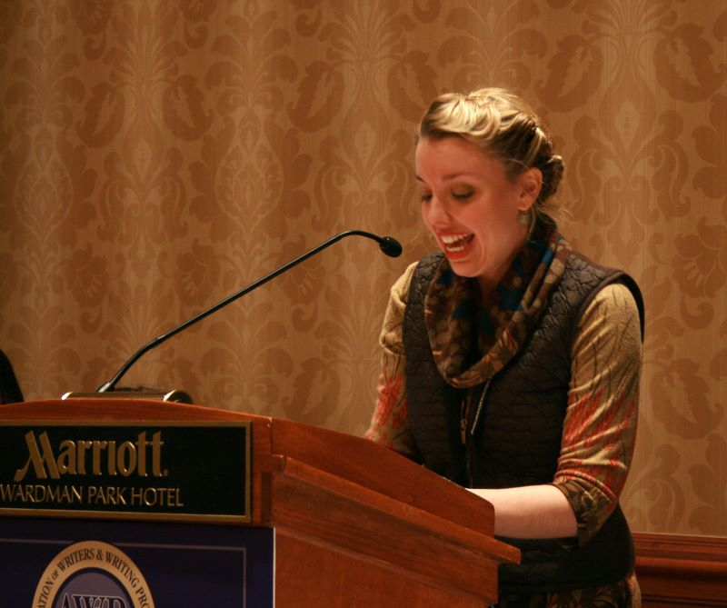 Annabelle Moseley reading the Woman Poet's Roll-Call at AWP 2011