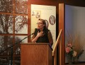 Annabelle Moseley reads at the Walt Whitman Birthplace