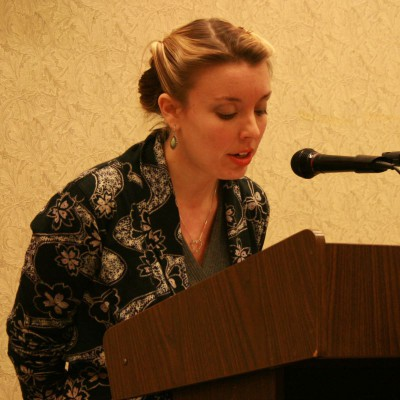 Annabelle Moseley reading her poetry